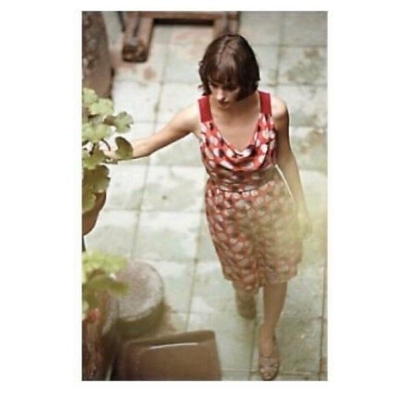 Moulinette Soeurs Dresses & Skirts - Moulinette Soeurs Silk Here & There Dot Red Dress